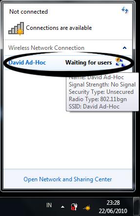 jaringan ad-hoc di windows 7